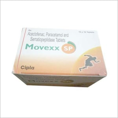 Aceclofenac - Paracetamol And Serratiopeptidase Tablets