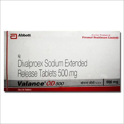 500 mg Divlproex Sodium Extended Release Tablets