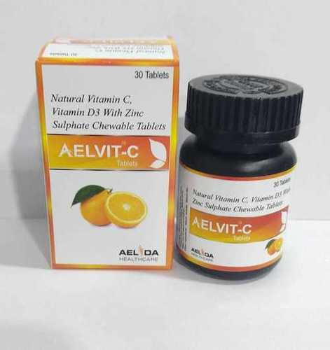 Natural Vitamin-c,vitamin-d3 With Zinc Sulphate Chewable Tablets