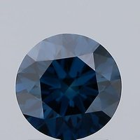 Blue Color 1.30ct Lab Grown Diamond CVD VS1 Round Brilliant Cut IGI Crtified