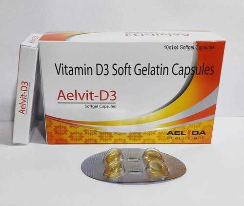 Vitamin D3 Soft Gealtin Capsules
