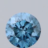 Blue Color 1.02ct Lab Grown Diamond CVD VS2 Round Brilliant Cut IGI Crtified