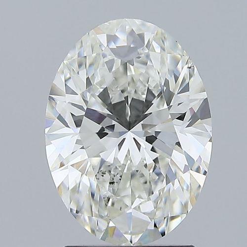 2.02ct Lab Grown Diamond CVD F VS2 Oval Brilliant Cut IGI Crtified