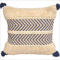 Handwoven Cotton Chindi and Lurex Cushion Cover