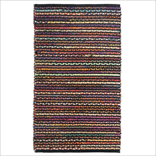 Handwoven Cotton And Chindi Rug