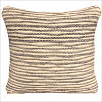 Fancy Handwoven Wool And Polyester Cushion Cover