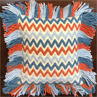 Tassel Wool And Polyester Cushion Cover