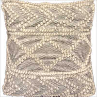 Designer  Wool And Polyester Cushion Cover