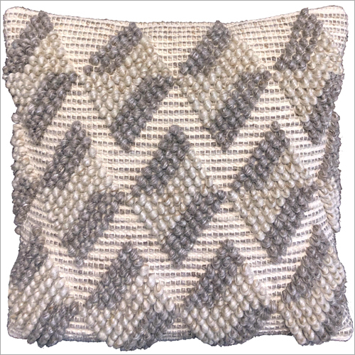 Handwoven Wool Cotton And Polyester Cushion Cover