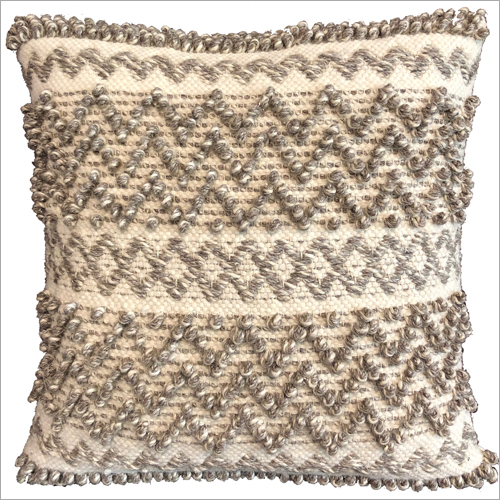 Modern Wool and Polyester Cushion Cover