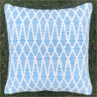 Both Front and Back Handwoven Outdoor Polyester Cushion Cover