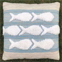 Bedroom Handwoven Outdoor Polyester Cushion Cover