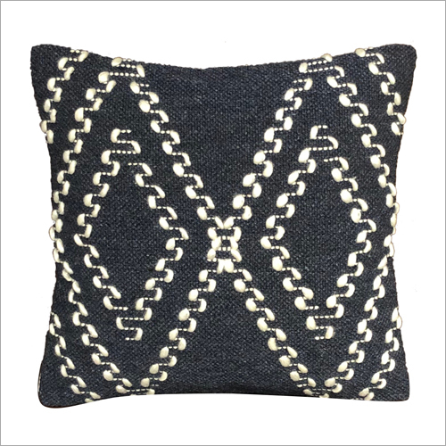 Decorative Wool and Polyester Cushion Cover