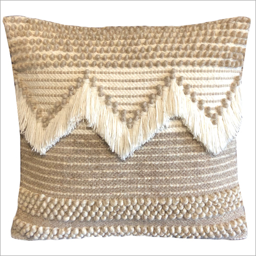 Stylish  Wool and Polyester Cushion Cover