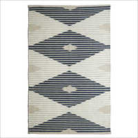 Designer Handwoven Wool and Polyester Rug