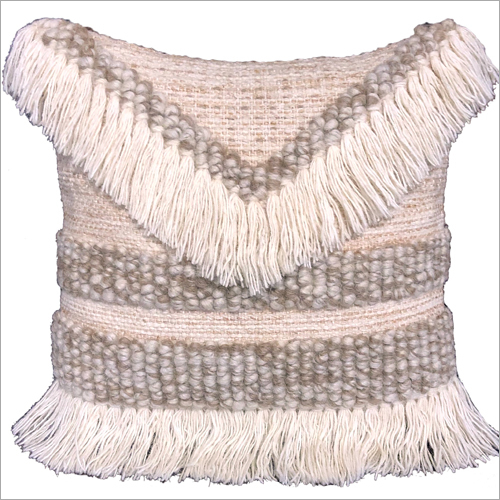 Wool Tassel Cushion Cover