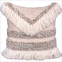 Wool Tassel Cushion Cover