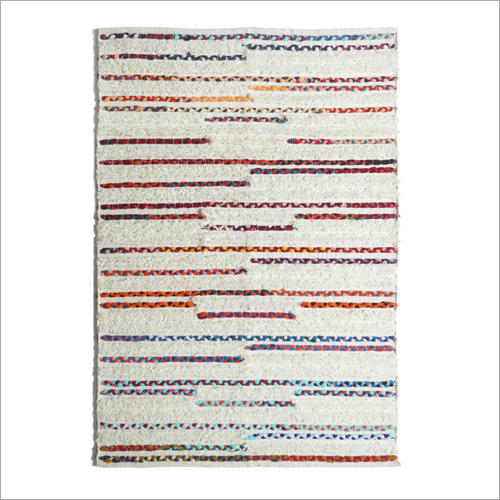 Handwoven Wool And Chindi Rug