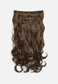!!!!! FAMOUS !!!!! CLIP IN BROWN HUMAN HAIR EXTENSIONS !!!!