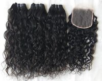 !!!! PRETTY !!!! CURLY LACE CLOSURE HUMAN HAIR EXTENSION !!!