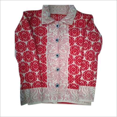 Ladies Printed Woolen Cardigan