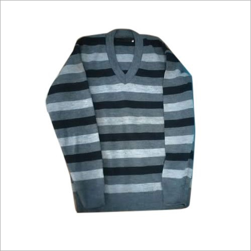 Mens Striped Woolen Sweater
