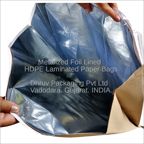 Metalized Foil Lined HDPE Laminated Paper Bags
