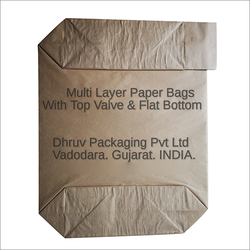 Multi Layer Paper Bags with Top Valve And Flat Bottom
