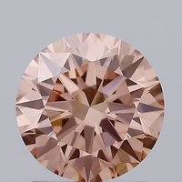 1.24ct Lab Grown Diamond CVD Brown pink VVS2 Round Brilliant Cut IGI Crtified