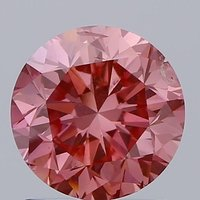 1.20ct Lab Grown Diamond CVD Vivid Pink SI2 Round Brilliant Cut IGI Crtified