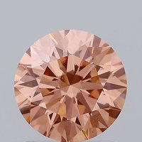 1.14ct Lab Grown Diamond CVD Pink SI1 Round Brilliant Cut IGI Crtified