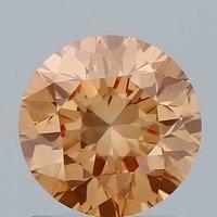 1.03ct Lab Grown Diamond CVD Pink VS2 Round Brilliant Cut IGI Crtified