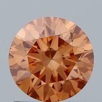 1.01ct Lab Grown Diamond CVD Pink VS1 Round Brilliant Cut IGI Crtified