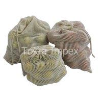 Cotton Mesh Drawstring Bags