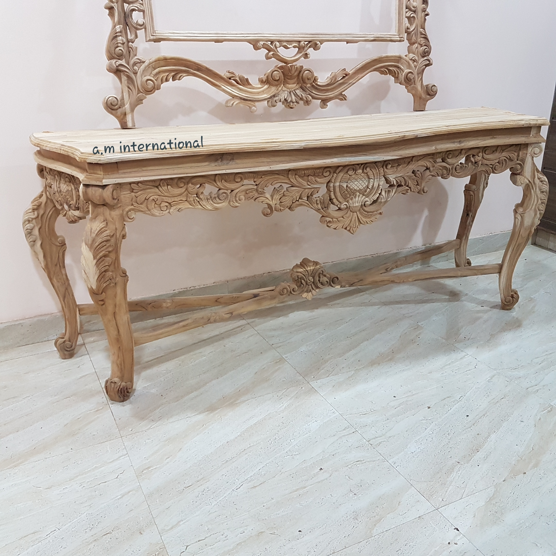 Hand Carved Consol Table