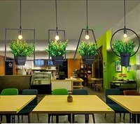Modern Hanging Pendant Lamp with Flower Base (Rectangle)