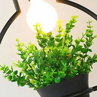 Modern Hanging Pendant Lamp with Flower Base (Square)