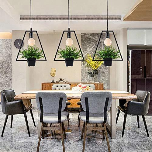 Modern Hanging Pendant Lamp with Flower Base (Triangle)