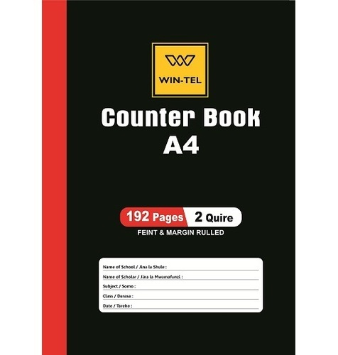 A4 2 Quire 192 Pages Counter Books
