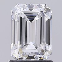 Emerald Cut 1.54ct Lab Grown Diamond CVD D VVS1 IGI Crtified Stone
