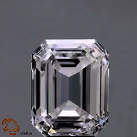 Emerald Cut 1.50ct Lab Grown Diamond CVD F VS1 IGI Crtified Stone
