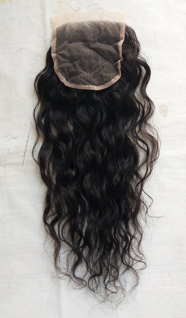 Raw Unprocessed Wavy closure, natural hair Swiss HD lace closure
