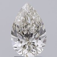 Pear Cut 1.56ct Lab Grown Diamond CVD I VVS2 IGI Crtified Stone
