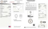 Pear Cut 1.56ct Lab Grown Diamond CVD I VVS2 IGI Crtified Stone