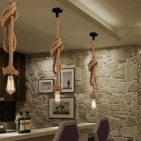 Retro Rope Pendant Lamp With Bulb (1.5 Meter Long, Warm White)