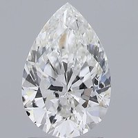 Pear Cut 1.51ct Lab Grown Diamond CVD F SI2 IGI Crtified Stone