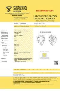 Pear Cut 1.51ct Lab Grown Diamond CVD F SI2 IGI Crtified Stone