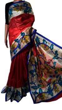 Silk Painted Saree