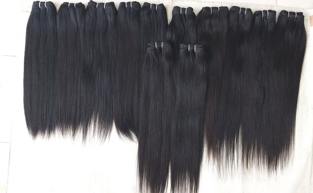Temple Donated Straight Hair