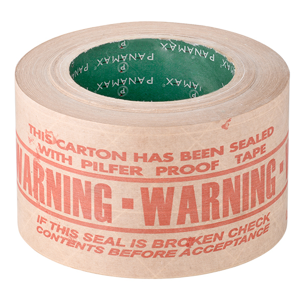 Red Warning Packaging Tape